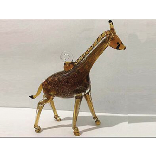 GIRAFFE GLASS ORNAMENT