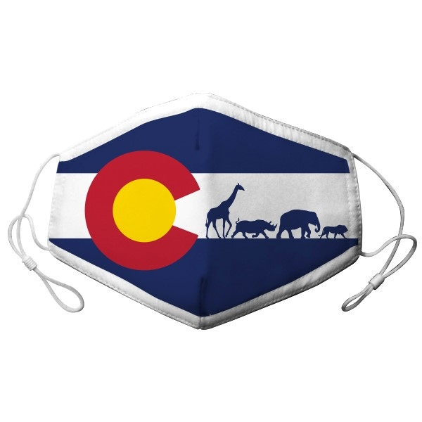 YOUTH ADJUSTABLE COLORADO FLAG ANIMAL MASK