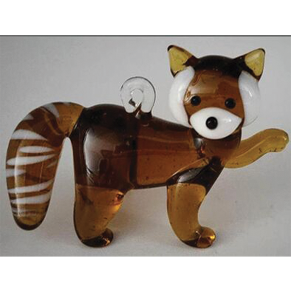 RED PANDA GLASS ORNAMENT