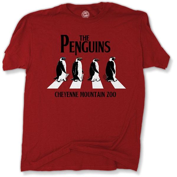ADULT SHORT SLEEVE TEE THE PENGUINS CARDINAL