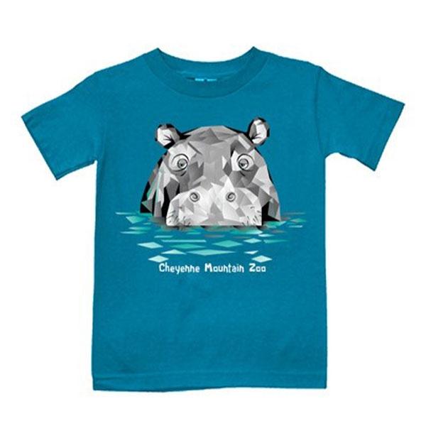 YOUTH SHORT SLEEVE TEE POLYGON HIPPO