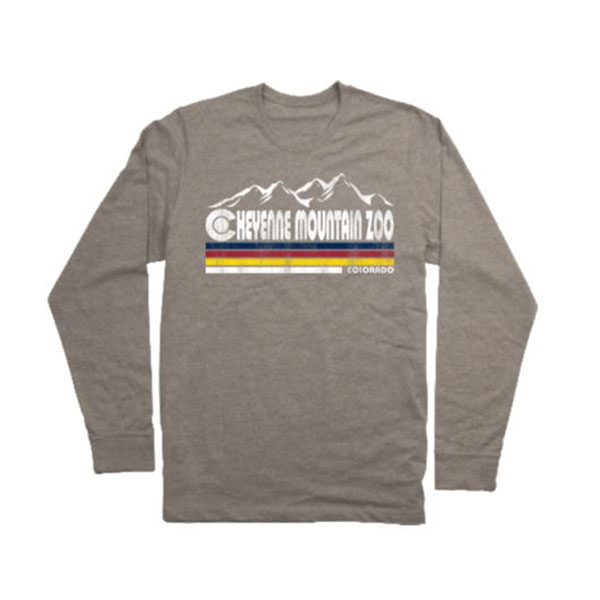 ADULT LONG SLEEVE TEE BUELLER COLORADO FLAG-HEATHER