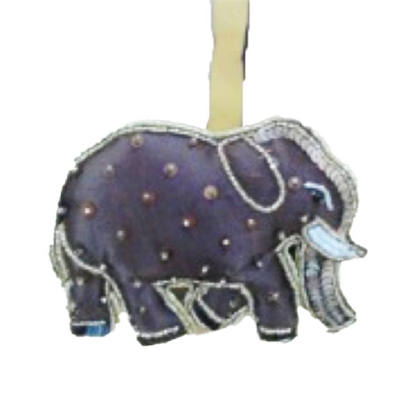 ELEPHANT SEQUIN ORNAMENT