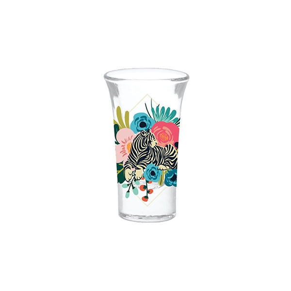 FLORAL TIGER SHOT GLASS