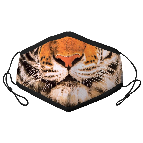 ADULT ADJUSTABLE TIGER PHOTO MASK