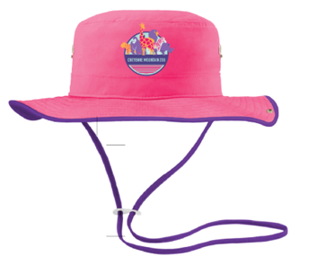 CHILD AUSSIE HAT PINK