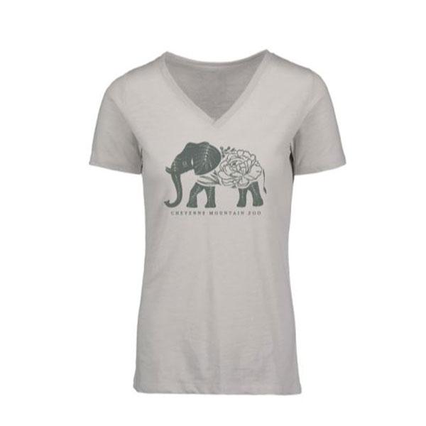 LADIES SHORT SLEEVE TEE VERA SLUB ELEPHANT